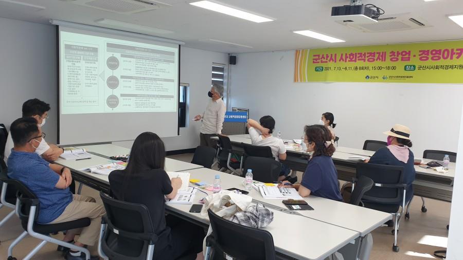 사회적경제 창업경영아카데미 5회차(2021.7.26.)