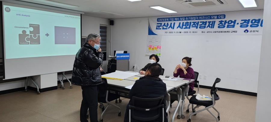 군산시 사회적경제 창업·경영아카데미 6회차(2020.12.9)